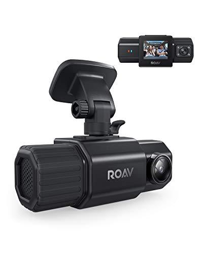 Anker Roav Dual Dash Cam Duo, Dual FHD 1080p Dash Cam for Uber, Front & Interior Wide Angle Car...