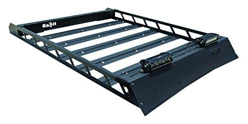 N-Fab T102MRF Aluminum Modular Roof Rack Bolt On Textured Black Aluminum Modular Roof Rack