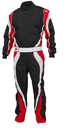 K1 Race Gear 10-SP1-R-LXL Speed 1 CIK/FIA Level 2 Approved Kart Racing Suit (Red/White/Black,...