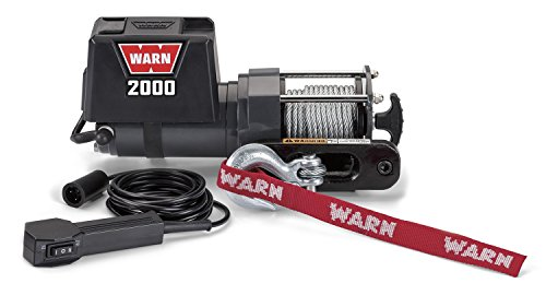 WARN 92000 Vehicle Mounted 2000 Series 12V DC Electric Utility Winch with Steel Cable: 1 Ton (2,000...