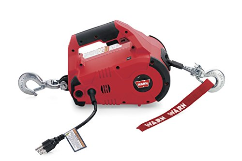 WARN 885000 PullzAll Corded 120V AC Portable Electric Winch with Steel Cable: 1/2 Ton (1,000 Lb)...