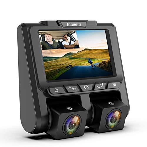 TOGUARD Uber Dual Dash Cam Full HD 1080P+1080P Inside and Outside Car Camera Dash Cams 3' LCD 340°...