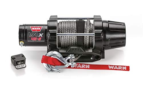 WARN 101040 VRX 45-S Powersports Winch with Handlebar Mounted Switch and Synthetic Rope: 1/4'...