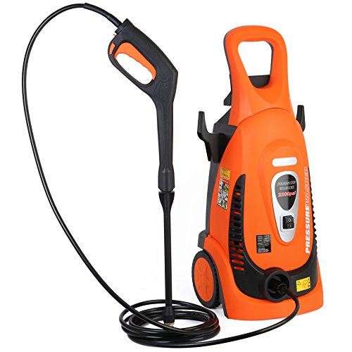 Ivation Electric Pressure Washer 2200 PSI 1.8 GPM with Power Hose Nozzle Gun and Turbo Wand, All...