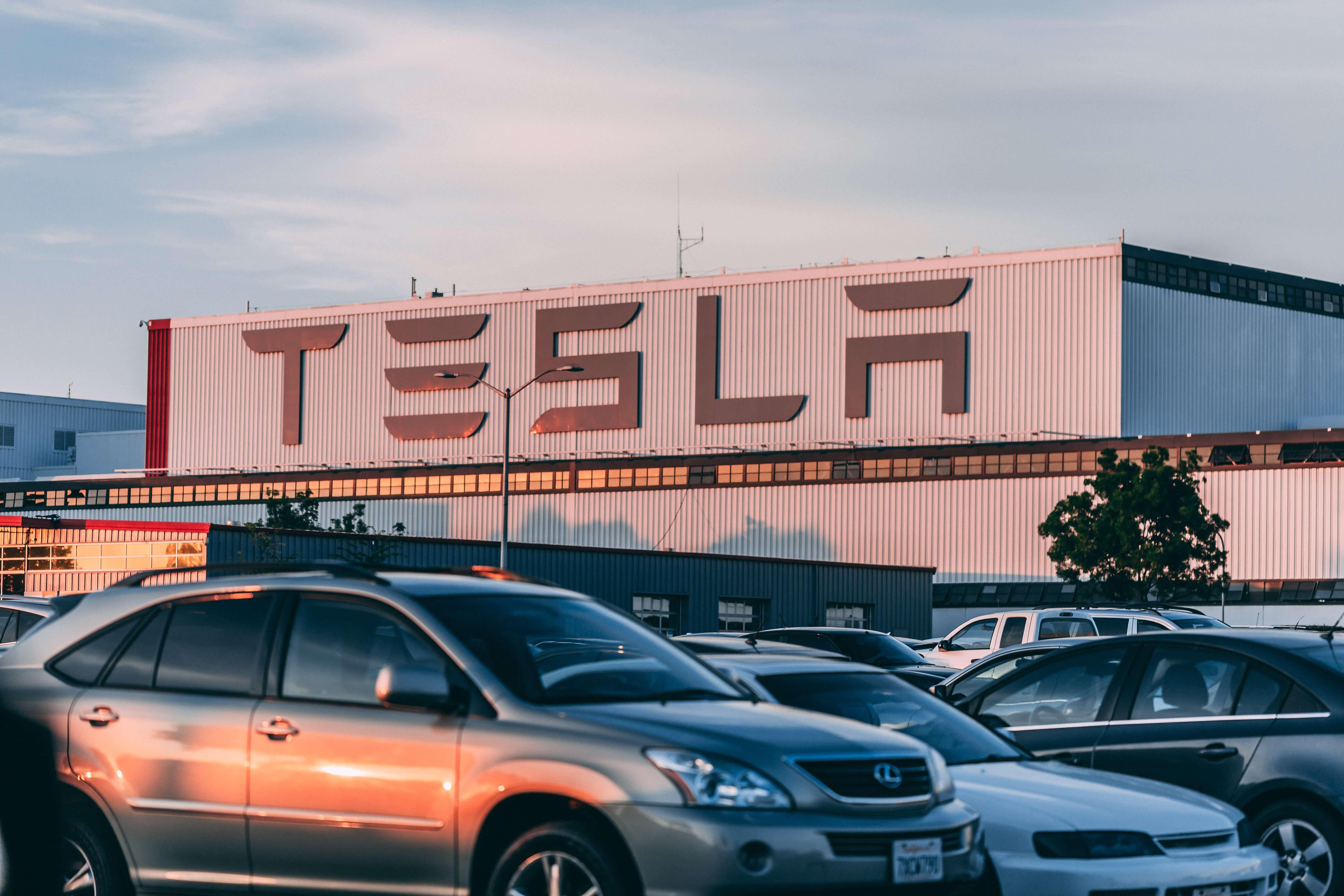 Signage of Tesla Company