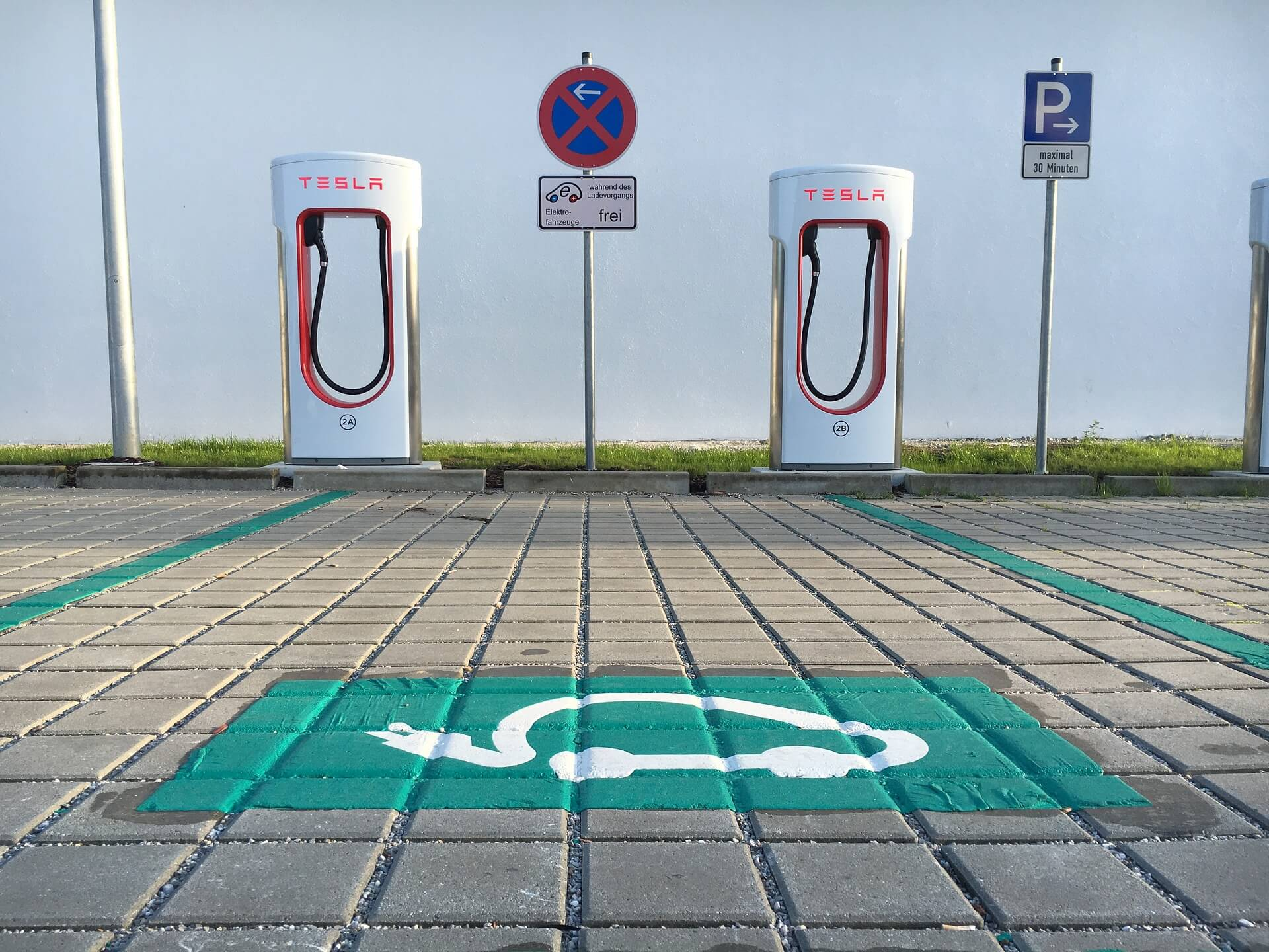 Supercharging Station at a stop-over location