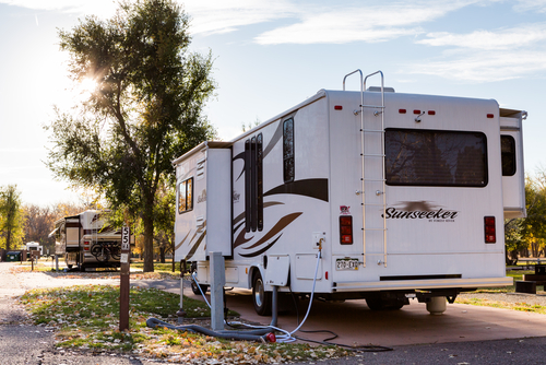 supported rv slide out