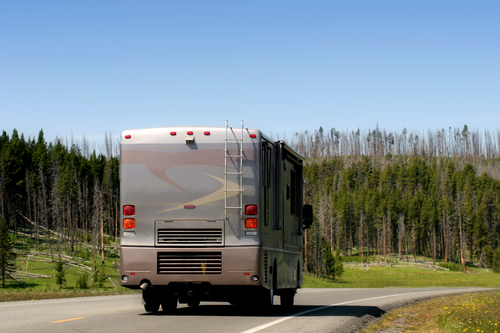 rv slide outs recessed on the road