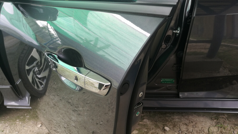 Car door edge guards rubber seal to protect door edge. - why your SUV squeaks