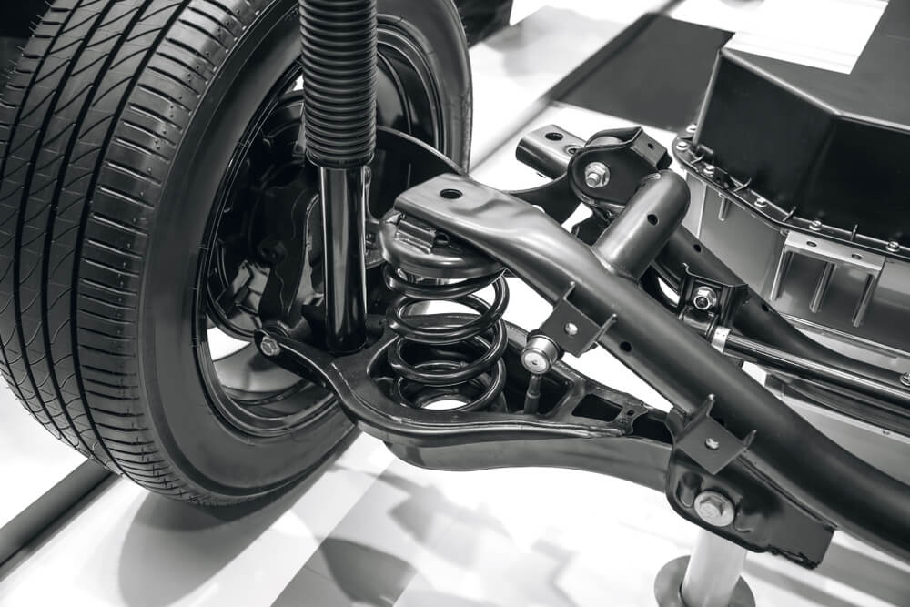 the suspension system of the car - why your SUV squeaks
