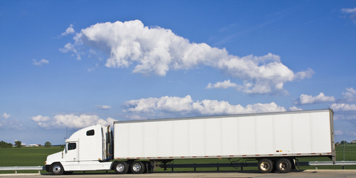Semi-Truck With Air Brakes
