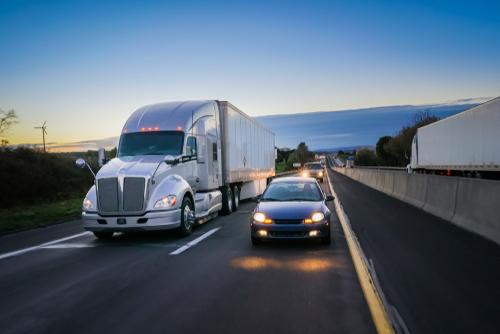Truck In Slow Lane