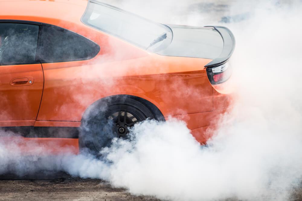 Sports Car Smoking Doughnuts