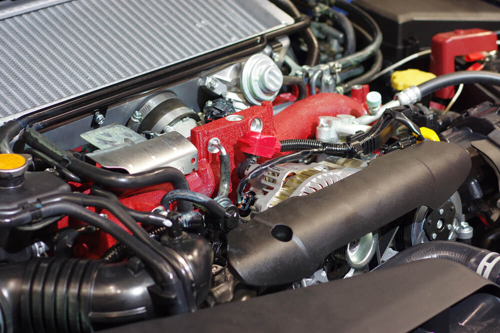 close up of truck engine - trucks and jeeps