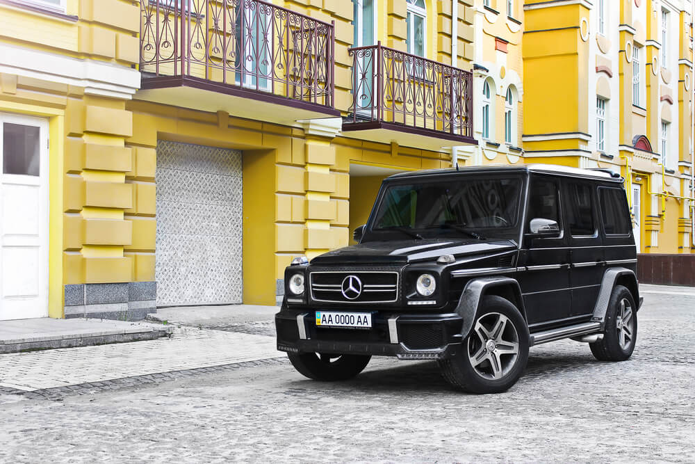 Mercedes-Benz G 55 AMG. Speedway. Speed. expensive. Car. Karbon. Race. Luxurious. Tuning. SUV. Supercar. Editorial photo.