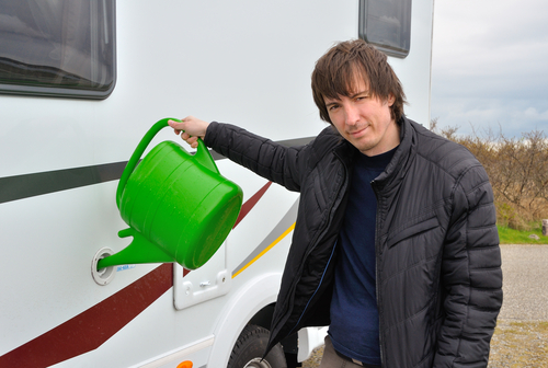 refilling water into your rv's tank