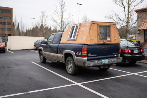 Pickup Truck As A Mobile Home