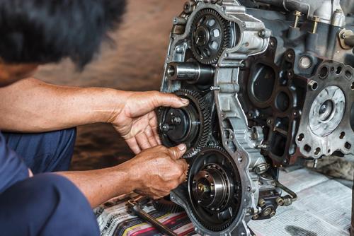An Expert Fixing An Engine