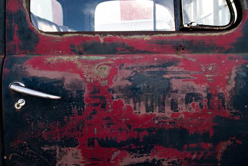 Rusted Truck Door