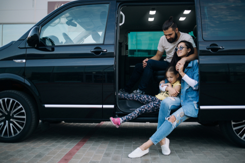 Family In A Van